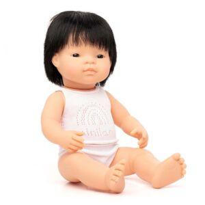 Muñeco bebé asiático 38 cm