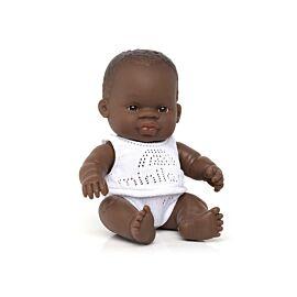 Muñeco bebé africano 21 cm