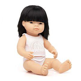 Muñeca bebé asiática 38 cm