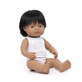 Muñeco bebé latinoamericano 38 cm