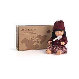 Set Muñeca Bebé Asiática 38 cm (31056) + Conj. Fri