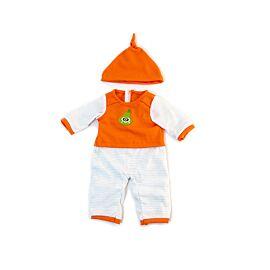 Pijama frio naranja rayas 38cm