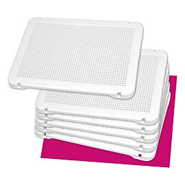 SET 6 GRILLES BLANCHES