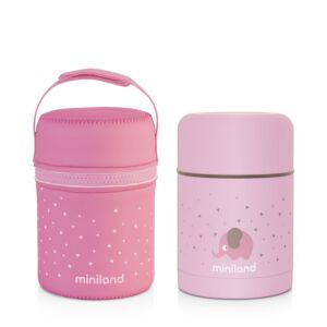 SILKY FOOD THERMOS ROSE 600ML
