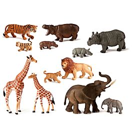 ANIMALES SALVAJES+BEBES 12 UDS