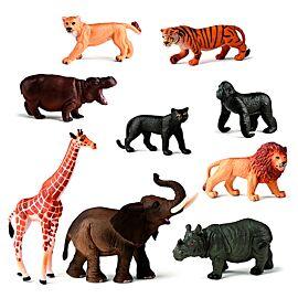 WILD ANIMALS 9 FIGURES/CONTAIN