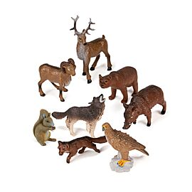 FOREST ANIMAL 8 PIECES/CONT