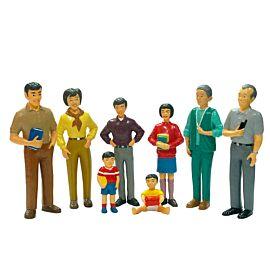 ASIAN FAMILY 8 FIGURES 12.5 CM