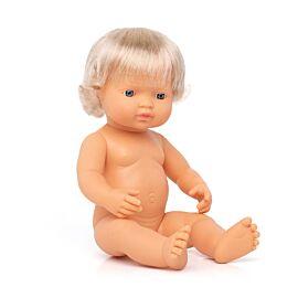 "BABY DOLL CAUCASIAN GIRL 15"""