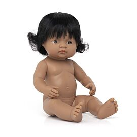 "BABY DOLL HISPANIC GIRL 15"""
