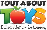 logo tout about toys