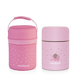 SILKY FOOD THERMOS ROSE